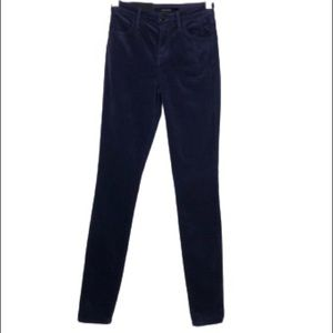 NWT J Brand Maria High Rise Skinny Velveteen Jeans